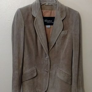 Wilson suede and leather size 7 jacket blazer